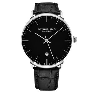 Stuhrling Men's Genuine Leather Quartz Dress Watch